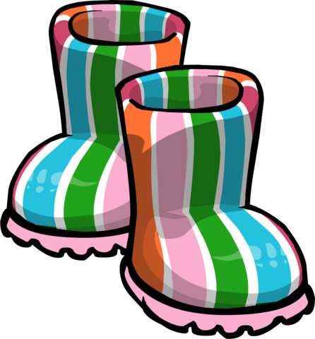 File:Pink Striped Rubber Boots.png
