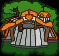 Orange Puffle Tree House icon