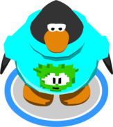 Green Pixel Puffle Tee in-game