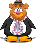 Fozzie Bear Head from a Player Card