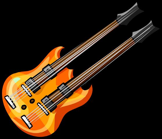 File:Orange double neck guitar.png