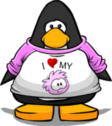 I Heart My Pink Puffle T-Shirt player card