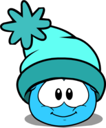 Turquoise Toque in Puffle Interface