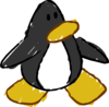 Doodle Dimension penguin Black
