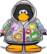 Puffle Raincoat from a Player Card