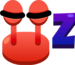 Emoji Crab Sleep