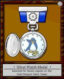 Silver Watch Medal