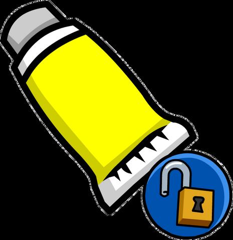 File:Yellow Face Paint (Unlockable).png