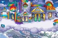 Rainbow Puffle Party Plaza