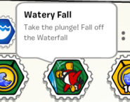 Watery fall stamp book