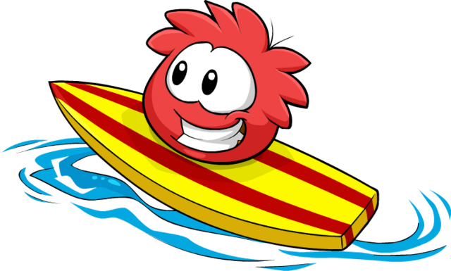 File:Red Puffle Catchin' Waves.png