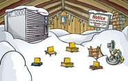 Puffle Party 2009 Lodge Attic