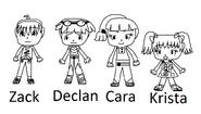 All human kids character drafts