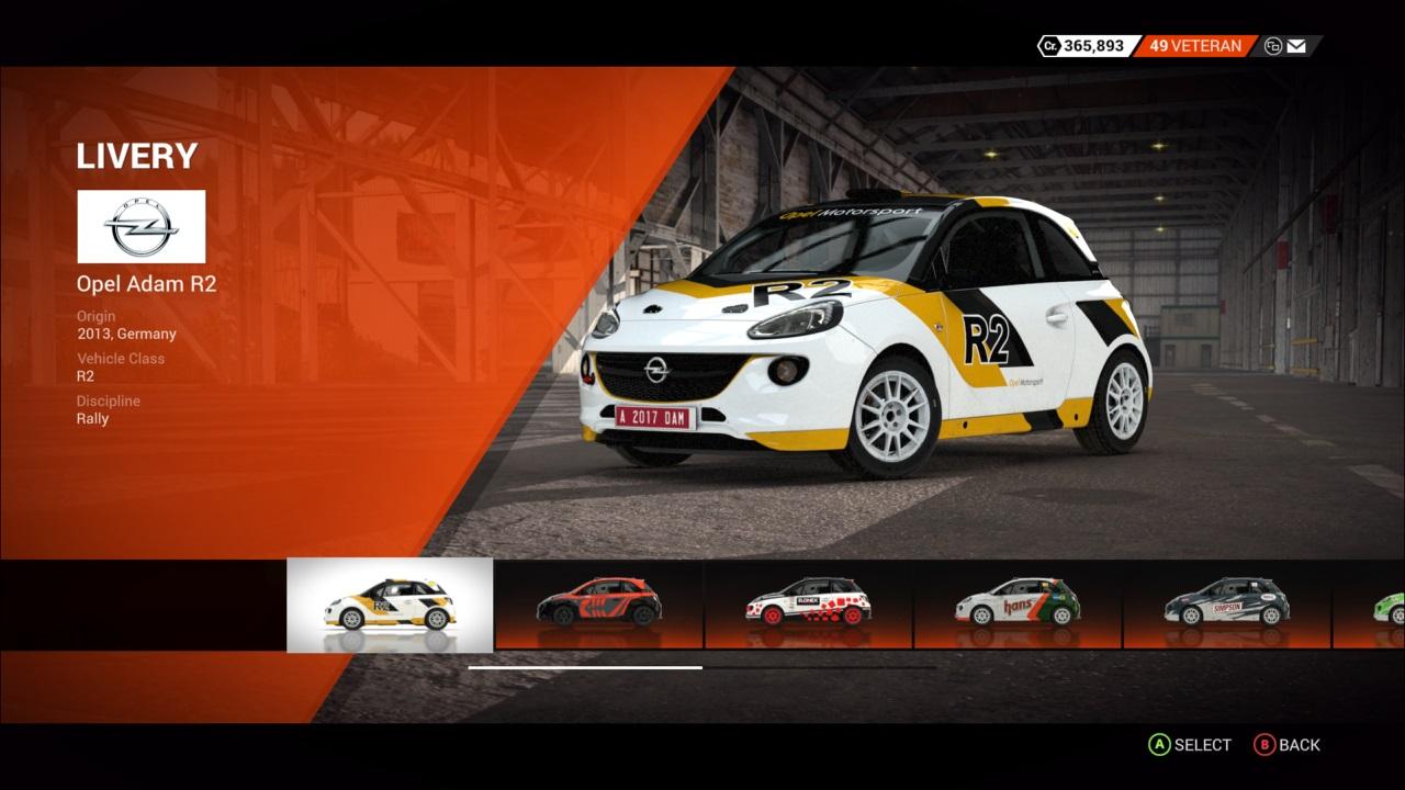DiRT 4 Opel Adam R2