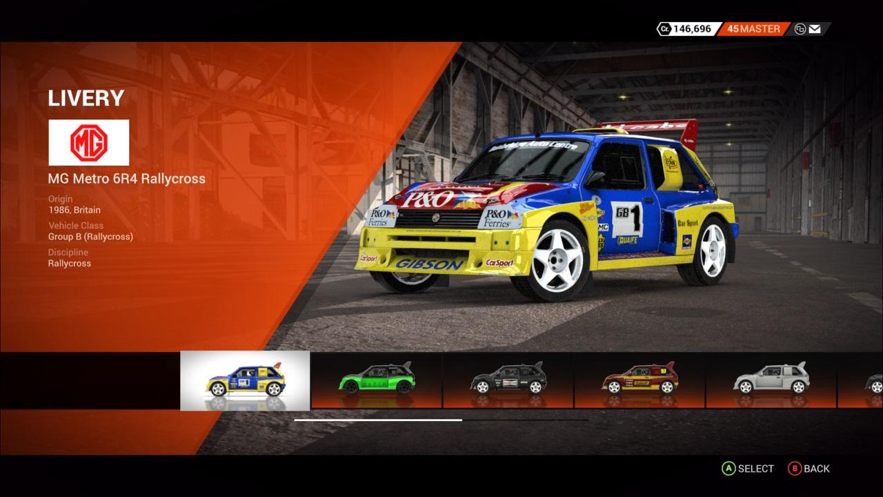 DiRT 4 MG Metro 6R4 Rallycross