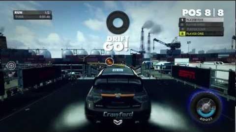 DiRT Showdown gameplay - Head 2 Head at Yokohama