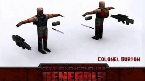 C&C Generals — Colonel Burton Audio