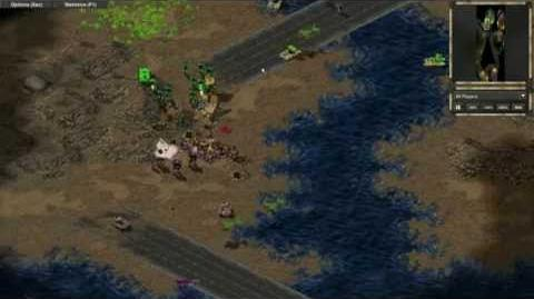 Some scenes from the first proper Tiberian Sun test game in OpenRA