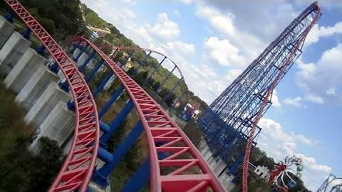 Superman - Ride Of Steel front seat on-ride HD POV Six Flags America