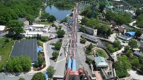 Steel Force Front Seat on-ride POV Dorney Park
