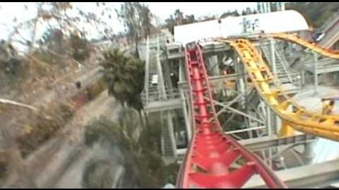 Windjammer Roller Coaster Front Seat POV Knott's Berry Farm California