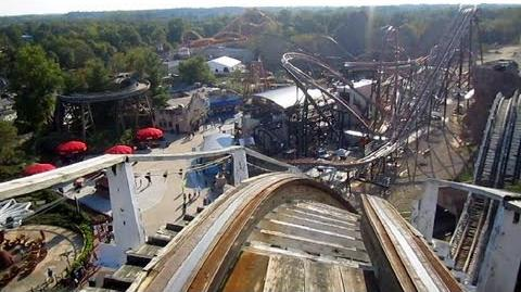 Wild One front seat on-ride HD POV Six Flags America