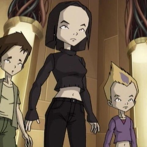 Ulrich, Odd and Yumi in the scanner room after checking Lyoko's status.