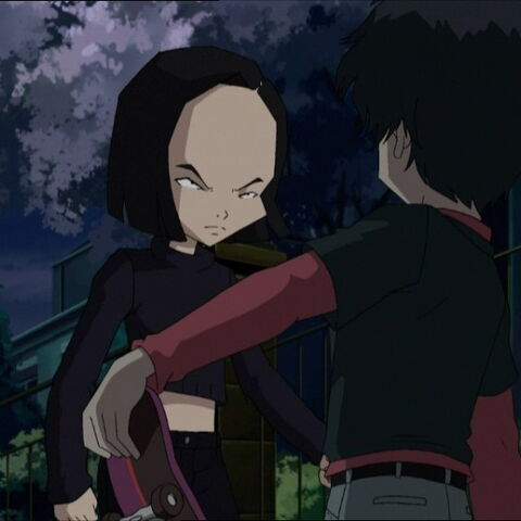 Yumi and William conversing near Ishiyama's house.