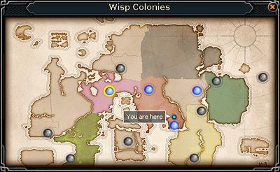 Localización de las colonias de luséfiros.
