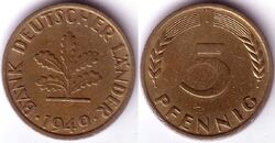 DEU DEM 1949 5 Pfennig J