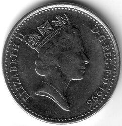 GBP 1996 10 Pence
