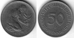 DEU DEM 1972 50 Pfennig D