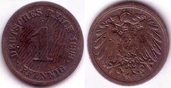 DEU DEM 1898 1 Pfennig D