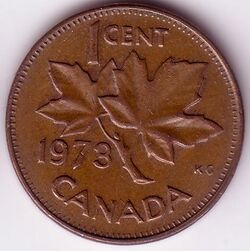 CAN CAD 1973 1 Cent