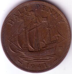 GBP 1941 0.5 Penny