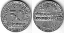 DEU DEM 1920 50 Pfennig A
