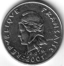 CFP 2001 10 Franc