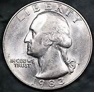 USD 1983 25 Cent