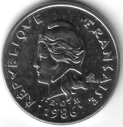 CFP 1986 10 Franc