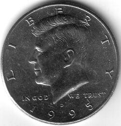 USD 1995 50 Cent D