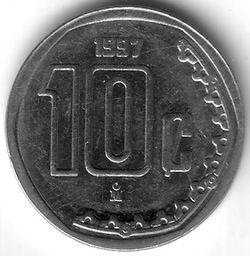 MXN 1997 10 Centavo