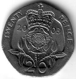 GBP 2003 20 Pence