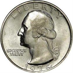 USD 1974 25 Cent