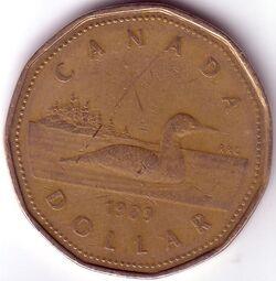 CAN CAD 1989 1 Dollar