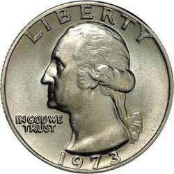 USD 1973 25 Cent
