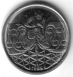 BRA BRN 1989 50 Centavo