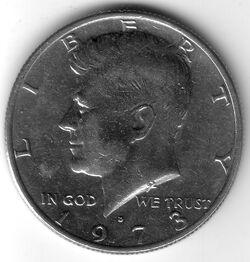 USD 1973 50 Cent D