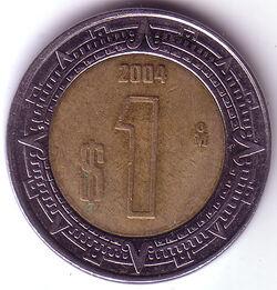 MXN 2004 1 Peso