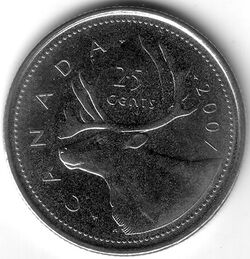 CAN CAD 2007 25 Cent