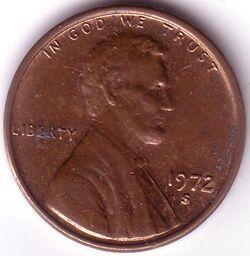 USD 1972 1 Cent S